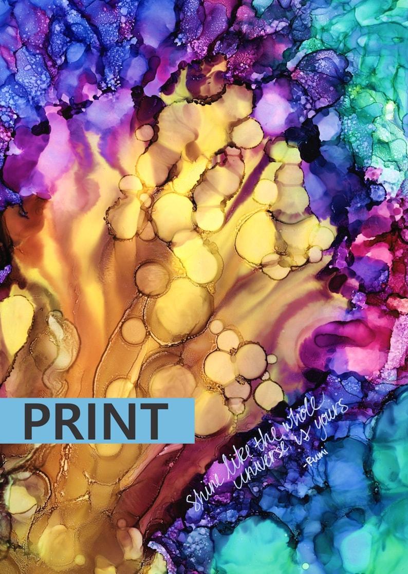 Shine  Original Art Print Various Sizes and Finishes Rumi image 0