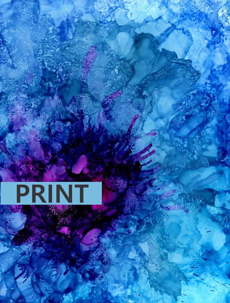 Amethyst Freeze   Original Art Print Various Sizes and image 0