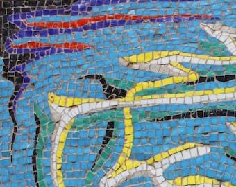 "004 Mosaic coffee Table ""Fil di Smoke"""