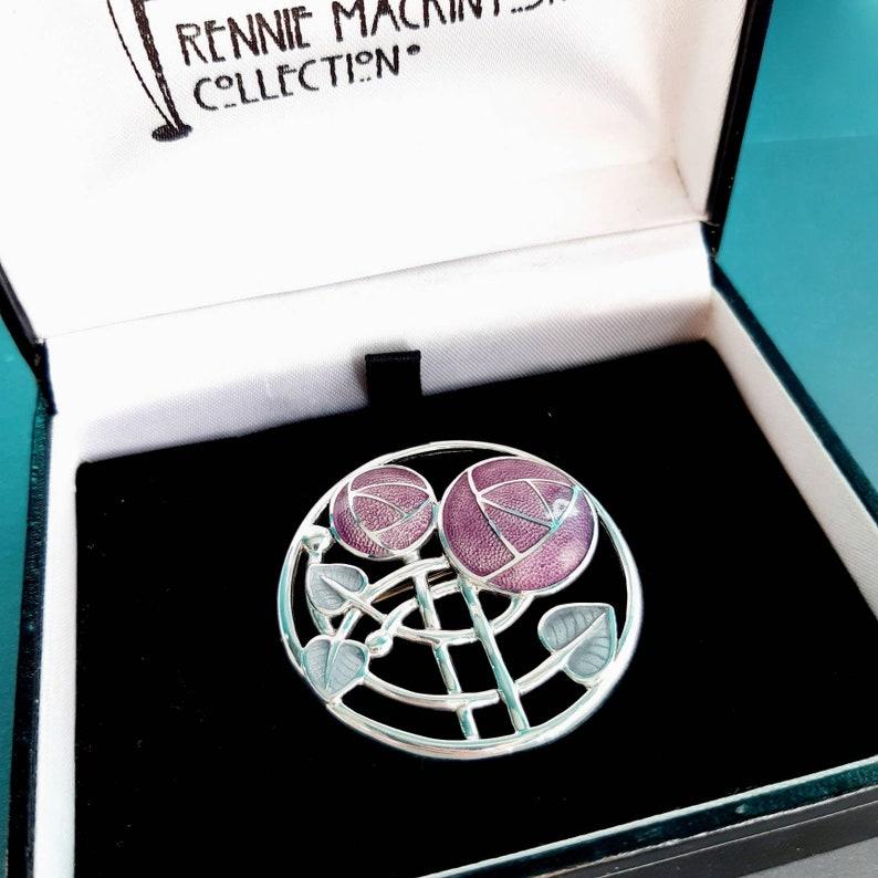 Sterling Silver Glasgow Rose Rennie Mackintosh Brooch Art Nouveau