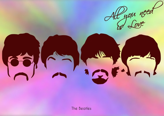 The Beatles Pop Art All you need is love Digital Download Poster Scalable  Size A8 - A0