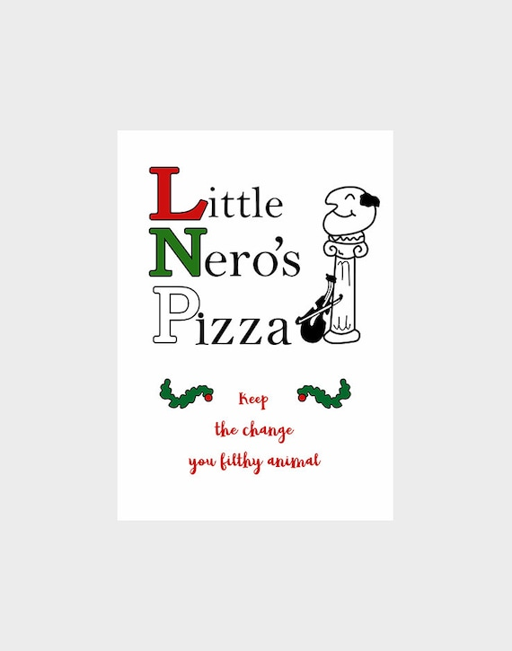Home Alone Little Neros Pizza Digital Download Poster Scalable Size A8 - A0