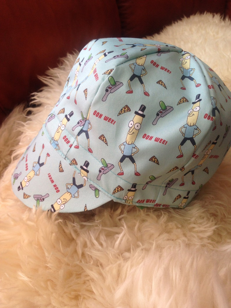 2ace8976be4 Welding cap Rick and Morty Fabric Mr Poopybutthole Reversible