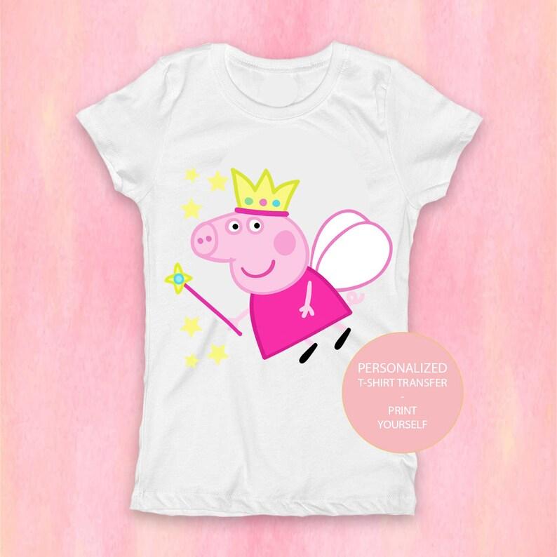 cd4b681c0 Fairy Peppa Pig T-Shirt Peppa Pig Family Birthday Shirt | Etsy