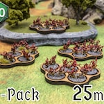 6 x 5-Squad [25mm] Movement Trays for Wargaming
