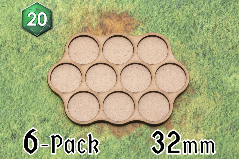6 x 10-squad 32/40mm Movement Trays for Wargaming image 0