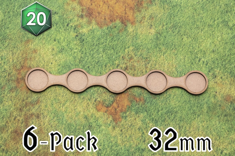 6 x Long Line 32/40mm Movement Trays for Wargaming image 0