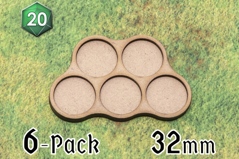 6 x 5-squad 32/40mm Movement Trays for Wargaming image 0