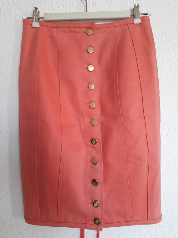 1990's Jean Paul Gaultier Junior salmon pink corse
