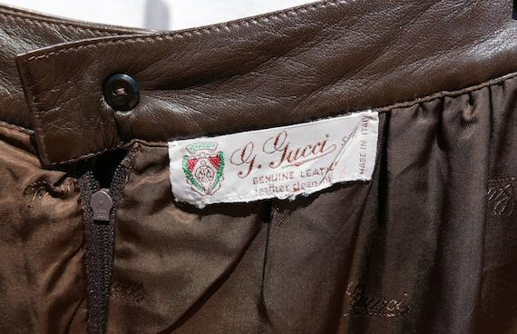 1970's Gucci soft lamb leather skirt - image 9