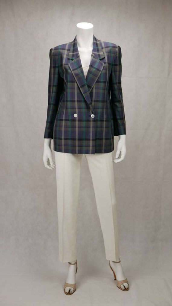 1990s Burberry multicolored blazer