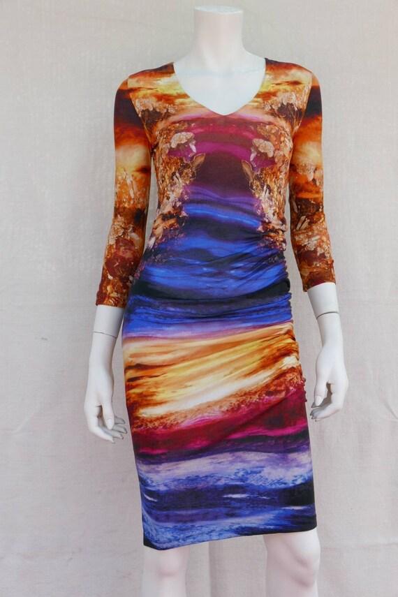 Alexander McQueen asymmetrical dress