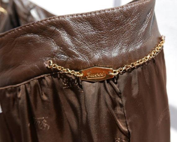 1970's Gucci soft lamb leather skirt - image 8