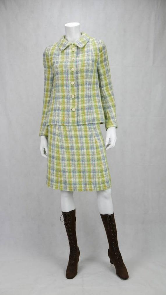 1960s Jaeger tweed skirt suit