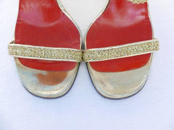 1970s Yves Saint Laurent gold platforms - image 5