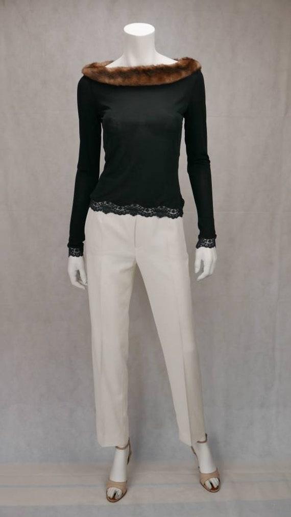 1990's Lolita Lempicka faux fur Top