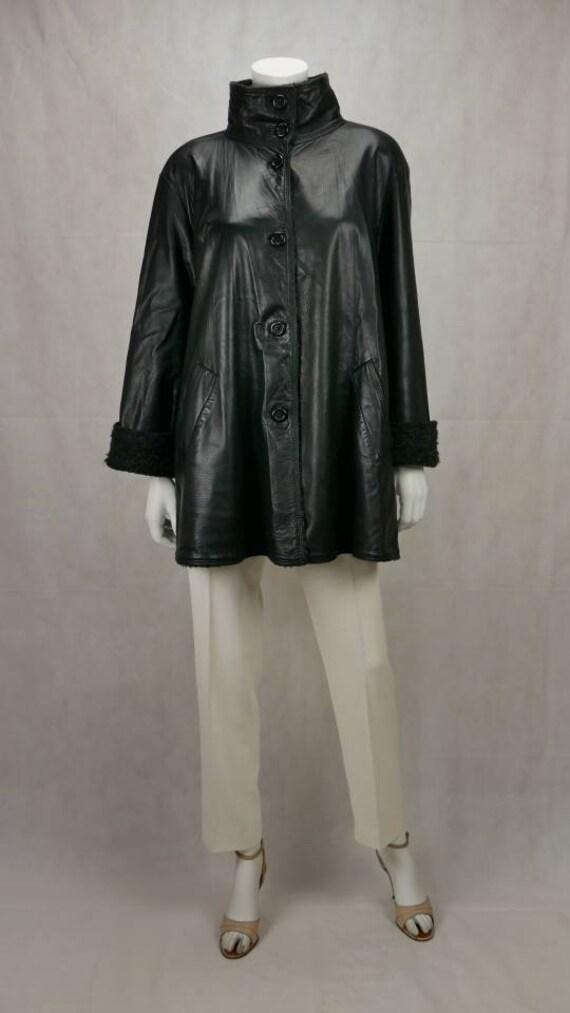 1990s Sylvie Schimmel leather jacket