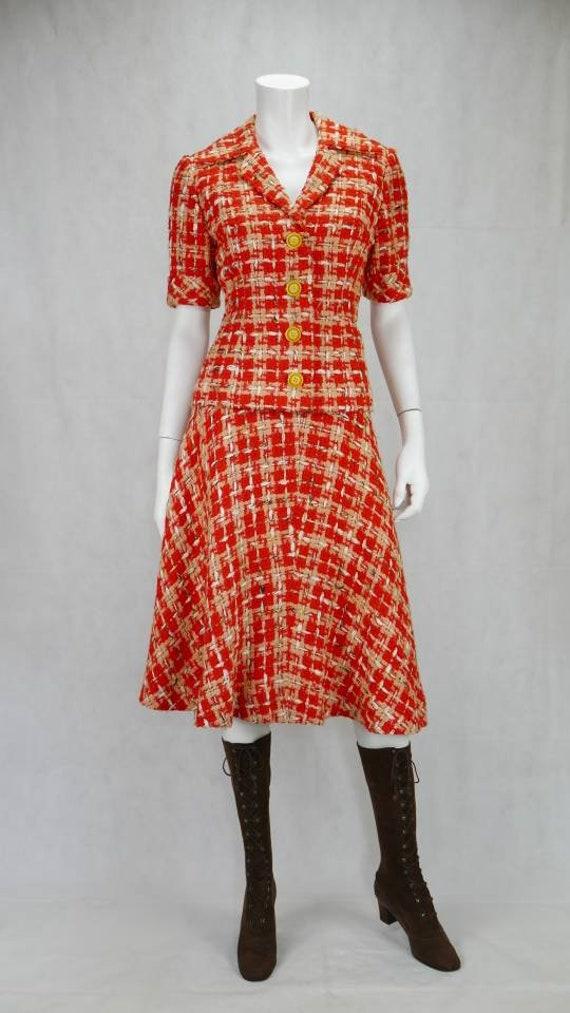 1960s Boucle skirt suit