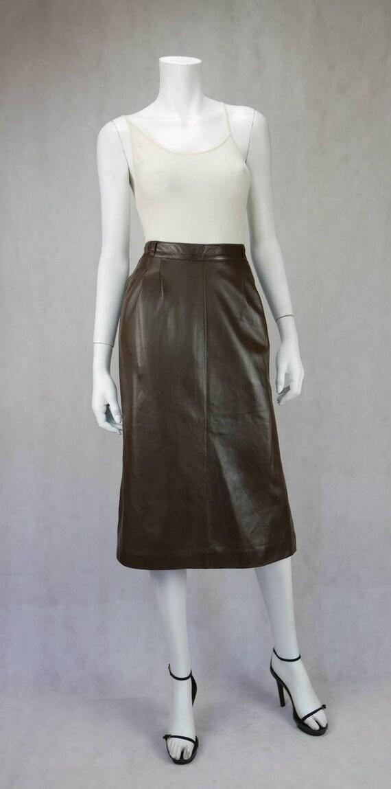 1970's Gucci soft lamb leather skirt - image 1