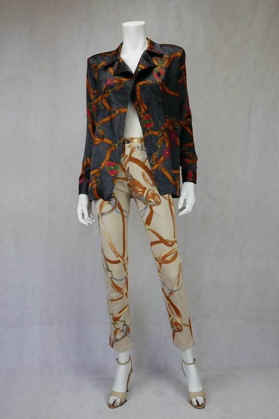 1980's Gucci silk blouse