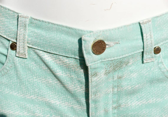 Roberto Cavalli mint green jeans with gold orname… - image 5