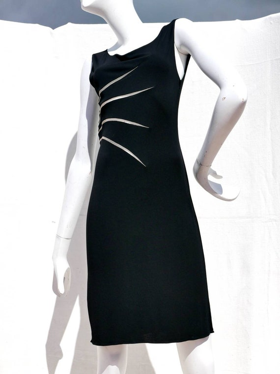 Gianni Versace Couture black jersey dress