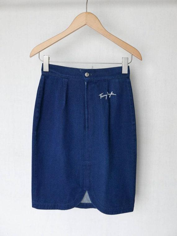 1980s Thierry Mugler denim skirt