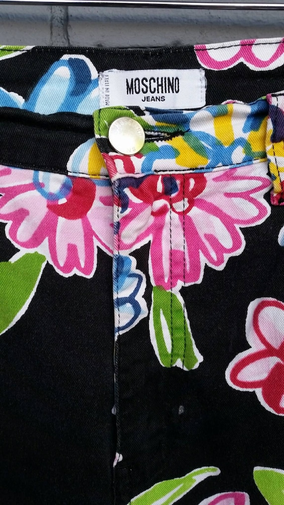 1990s Moschino Flower Power Jeans - image 4