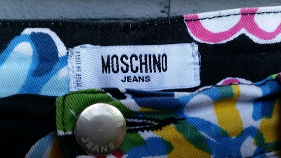 1990s Moschino Flower Power Jeans - image 6