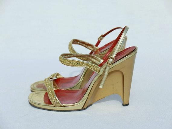 1970s Yves Saint Laurent gold platforms - image 2