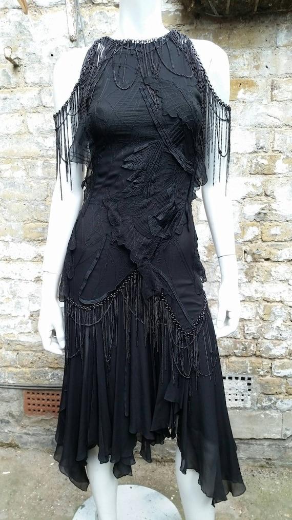 Stunning 1990s Versace Chain Dress