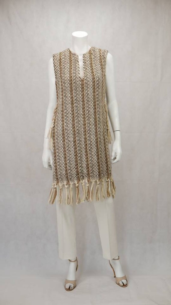 1970s knitted Maria Svatina poncho