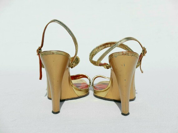 1970s Yves Saint Laurent gold platforms - image 7