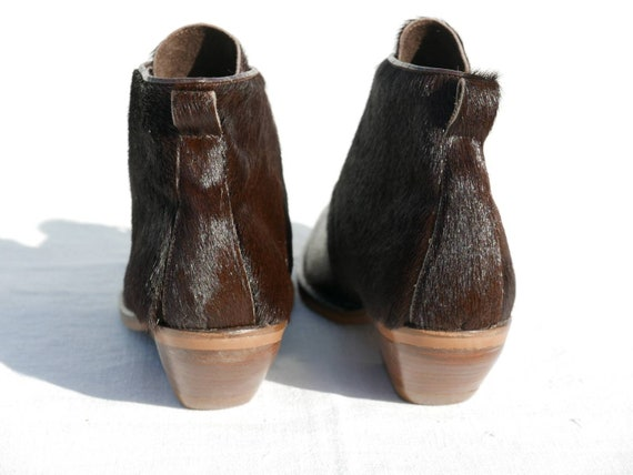 1990's Destroy Cow hair ankle boots - image 5