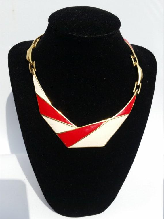 80's Enamel Monet necklace
