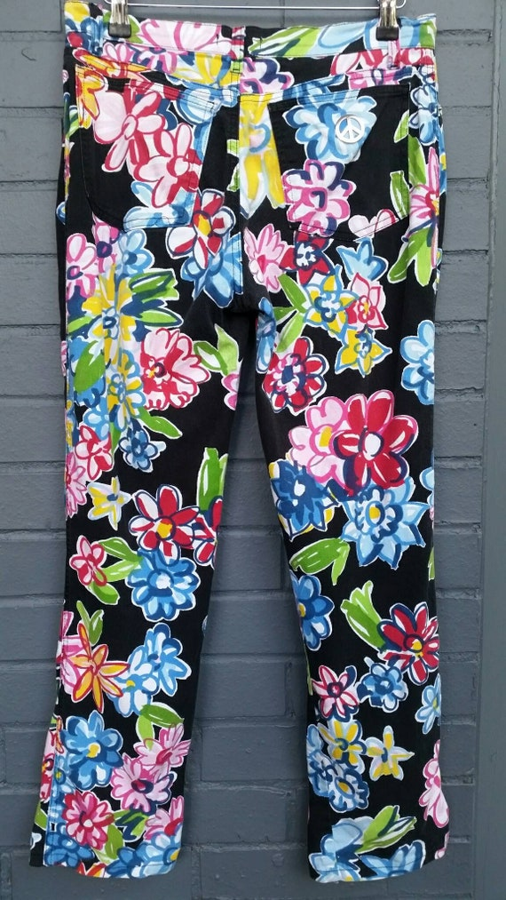 1990s Moschino Flower Power Jeans - image 3