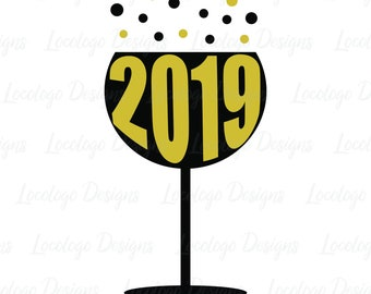2019 svg new year svg happy new year fizz prosecco champagne svg