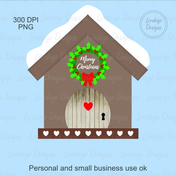 Birdhouse Clipart Christmas Birds Clip Art Cute Country Printable Decor Png From LocologoDesign