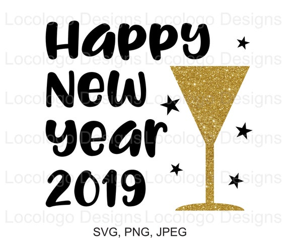 happy new year 2019 svg 2019 svg new year svg 2019 svg etsy art supplies clip art images art supplies clipart black white