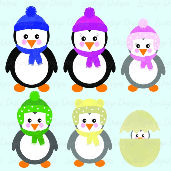 cute penguin clip art penguin family clip art christmas penguins rh etsystudio com penguin clip art pictures penguin clip art printable free