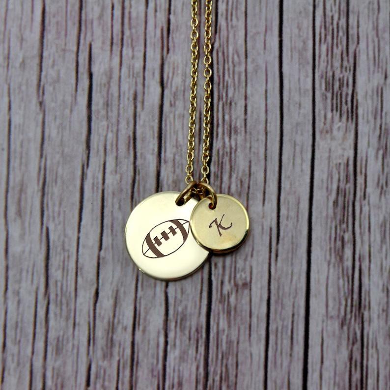 Personalized Sports Necklace Team Jewelry Graduation Gift Baseball Jewelry Custom Athlete Jewelry Basketball Football