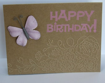 One of a Kind Butterfly Birthday Card