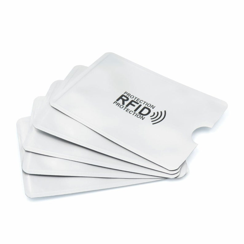 10 Pcs Silver RFID Card Sleeve Wallet Contactless Blocking Aluminium Case Protection Debit Credit Wholesale UK Card Holder ID Bank