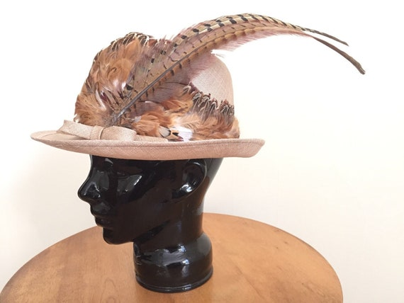 Feather Hat for Women - Womens Hats - Wide Brimmed