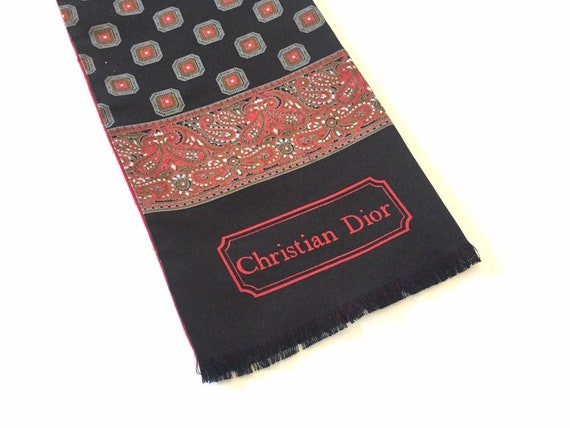 Authentic Christian Dior Scarf - Silk - Mens Scarf