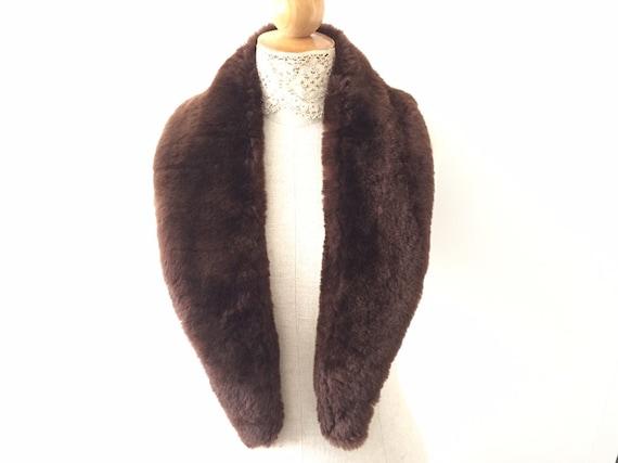 Real Fur Collar - Authentic Shearling Fur Coat Col