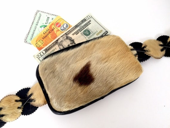 Vintage Leather Fanny Pack - Leather and Real Fur
