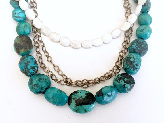 Authentic Turquoise Necklace - Turquoise Bead Mult