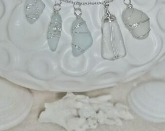 Genuine seaglass pendants