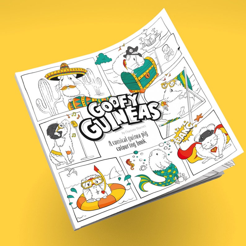 Goofy Guineas: A comical guinea pig coloring book image 0